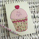 Personalised 'Thank You' Embroidered Notepad