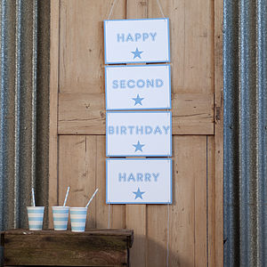 Personalised Banner Party Decoration - living & decorating