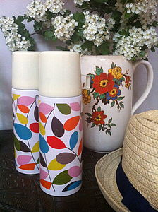 Leaf Print Thermos Flask - shop by price
