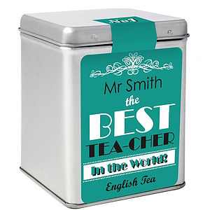 Personalised Tea Tin - food & drink gifts