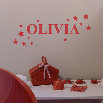 Personalised Stars Wall Sticker
