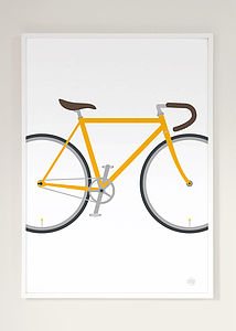 Bicycle Print Many Colours - gifts for cyclists