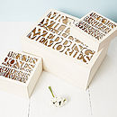Personalised Wooden Wedding Keepsake Box