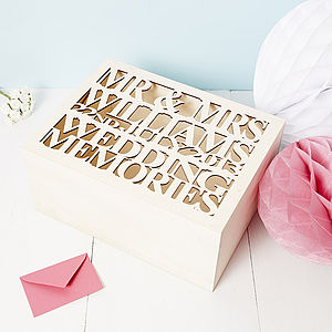 Personalised Wooden Wedding Keepsake Box - best wedding gifts 2014