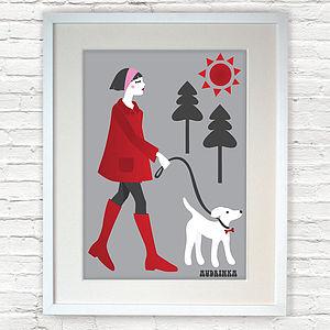 Walking The Dog Print