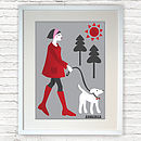 Walking The Dog Print