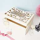Personalised Heart Wedding Gift Keepsake Box