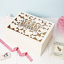Personalised Heart Christening Keepsake Box