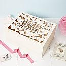 Personalised Heart Christening Keepsake Box