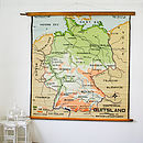 Vintage Pull Down Map Germany