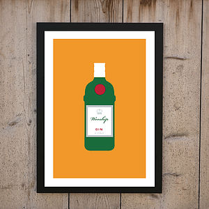 Personalised 'Worship Gin And Tonic' Print