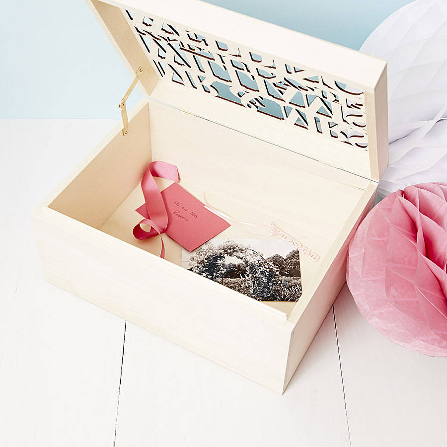 large personalised wedding gift keepsake box by sophia victoria joy ...