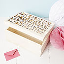 Large Personalised Wedding Gift Keepsake Box