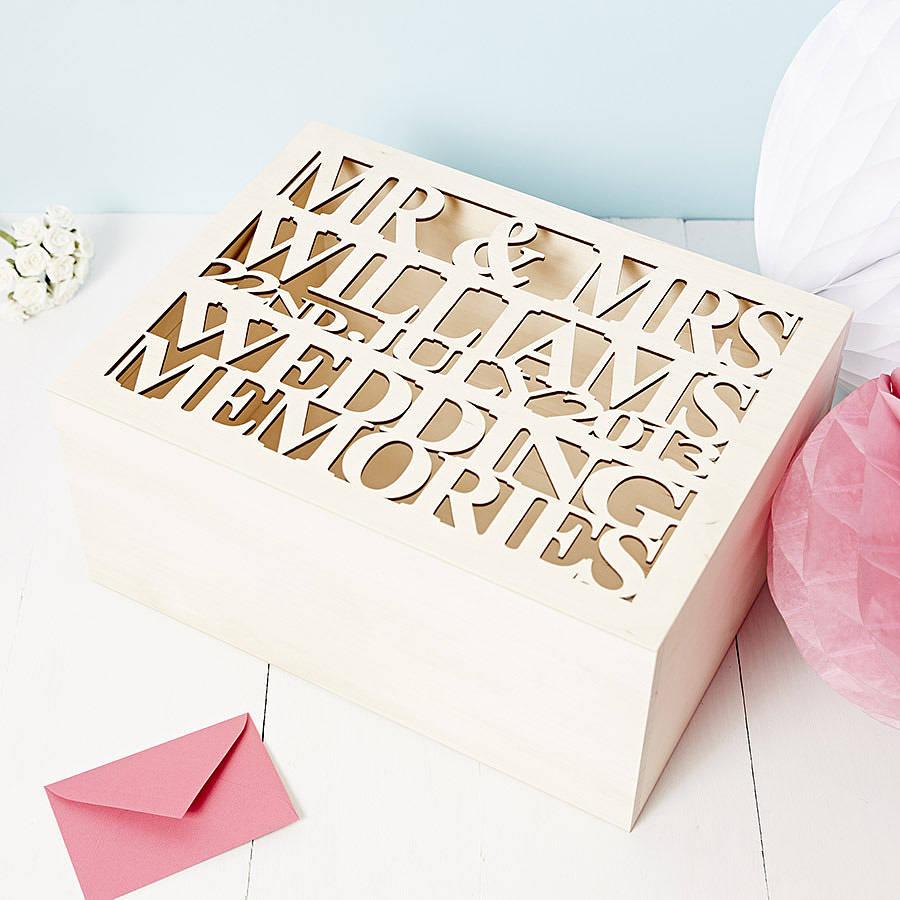 Personalised Wedding Gift Keepsake Box by SOPHIA VICTORIA JOY