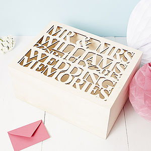 Large Personalised Wedding Gift Keepsake Box - storage & organisers