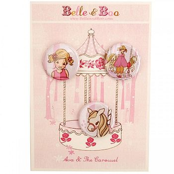 Ava & The Carousel Badge Set