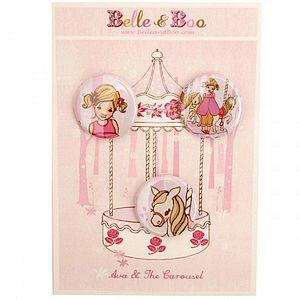 Ava & The Carousel Badge Set