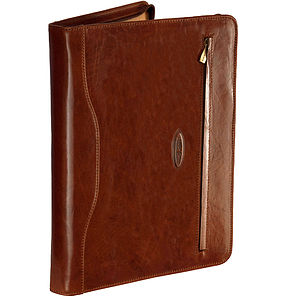 'Veroli' Leather Ring Binder Folder - stationery