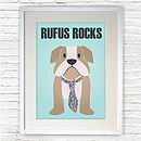 Personalised British Bulldog Print