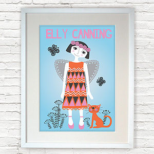 Personalised Child's Angel Giclée Print