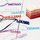 Personalised Name Drink Charms