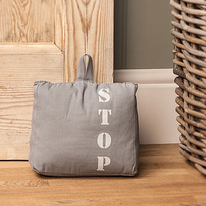 Fabric 'STOP' Door Stop - decorative accessories