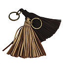 Lola: Handmade Leather Tassel Key Rings