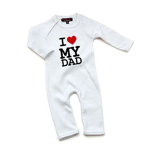 I Love My Dad Babygrow - valentines gifts for children