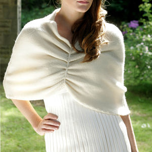 Carapace Winter Wedding Cape - bridal finishing touches