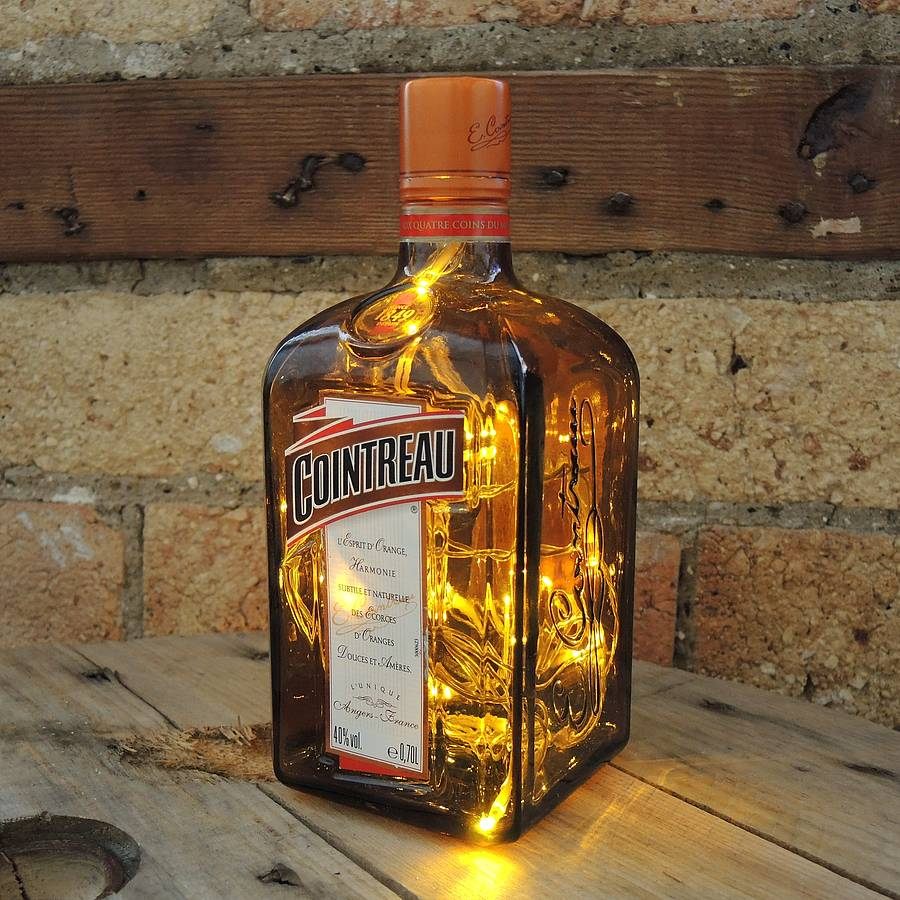 Upcycled Cointreau Bottle Lamp By Upcycled Creative