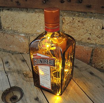 Upcycled Cointreau Bottle Lamp