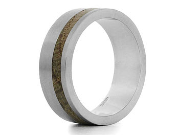 'Kindle II' Palladium And Wood Ring
