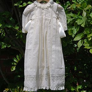 Old Time Christening Or Baptism Gown