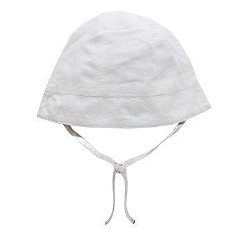 French Design White Baby Sun Hat