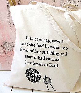 'Knitting Brains' Tote Bag - storage & organisers