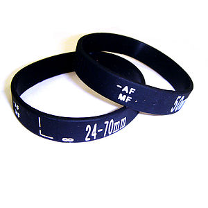 Pair Of Camera Focus Wrist Band Bracelets - bracelets & bangles