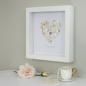 Personalised Pearl Anniversary Heart Artwork - anniversary gifts