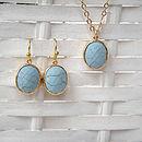 Gold Turquoise Hoop Earrings