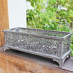 Grey Metal T Light Candle Holder