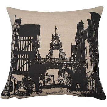 Chester East Gate Clock Cushion Cover