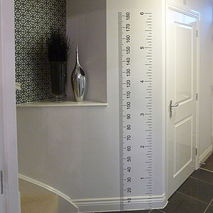 Ruler Growth Chart Wall Sticker - bedroom