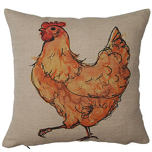 Chicken With Attitude Cushion Cover - cushions