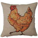 Chicken With Attitude Cushion Cover