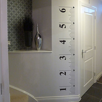 Tape Measure Growth Chart Wall Sticker