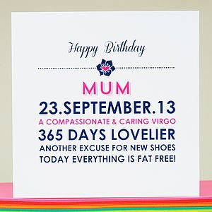 Personalised 'Mum' Birthday Card - birthday cards
