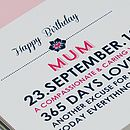 Personalised 'Mum' Birthday Card