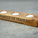 Thumb personalised oak tea light holder