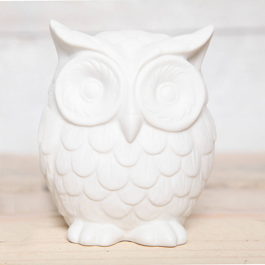 Medium Ceramic Owl Decoration By Red Berry Apple