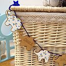 Personalised New Baby Boy Keepsake Bunting