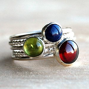 Fairground Gemstone Stacking Rings - rings